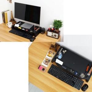Eutuxia Slim Universal Monitor Laptop Multimedia Stand with Desk Organizer