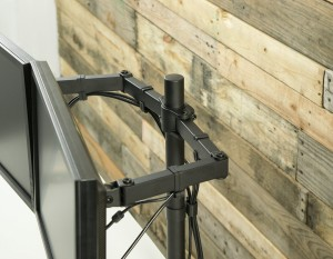 Dual Monitor Stand from VIVO Dual LCD Monitor Desk Mount Stand_image