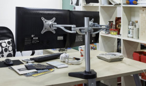 adjustable monitor stand fleximounts dual arm