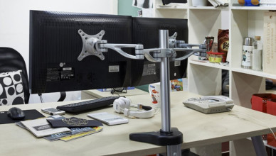 adjustable monitor stand fleximounts dual arm